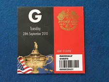 Ryder Cup 2010-CELTA MANOR-Mariscal 's billete de invitados - 28/9/10