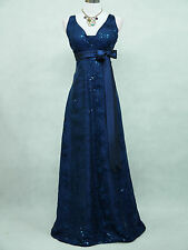 Cherlone Blue Ballgown Wedding Evening Bridesmaid Full Length Formal Dress 8