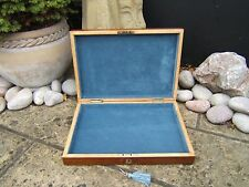 LOVELY DATED 1907 SOLID WALNUT ANTIQUE DOCUMENT/JEWELLERY BOX - FAB INTERIOR
