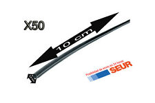 50X Tubo 10 cm Retractil Negro Cable 3,5 mm diametro aislador termoretractil
