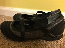 ~Skechers Bikers Ms. Perfect #22012, Blk/Grey Plaid, Womens US 8 M Mary Jane