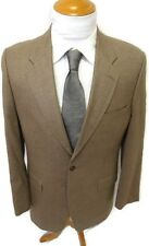 Ralph Lauren Blazer Silk Wool Blend 42R Tan Brown Houndstooth Lord Taylor Jacket