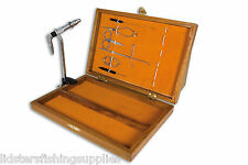 Fly Fishing Deluxe Lineaeffe Fly Tying Tool Set In Wooden Box for Trout 5030010