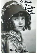 "Lassie Lou Ahern, ""Our Gang"" Actress, Signed Photo, COA, UACC RD 036"
