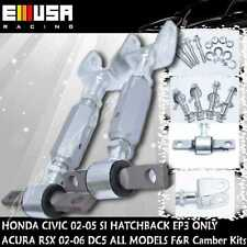 EMUSA RSX BASE TYPE-S Civic SI EP3 K20 K20A Silver Adj. F+ R Camber Kit SI