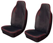 VAUXHALL CORSA VAN Heavy Duty Extra Waterproof Front Seat Covers BLACK/RED