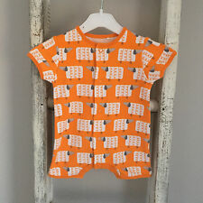 Baby Unisex Next Romper First Size Newborn Orange Sheep Girl Boy Summer Babygrow