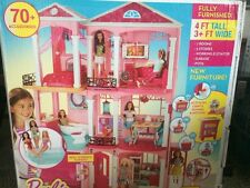 Barbie Dream House Doll Pink Dollhouse Dreamhouse Elevator 3 Story Play Set Girl