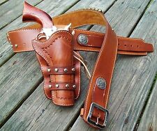 Reddog Leather Cowboy Western Holster and Belt, the SASS Ringo rig!!
