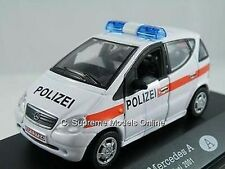 MERCEDES A CLASS POLICE CAR MODEL POLIZEI 2001 1/43RD SCALE MINT PACKED (=)