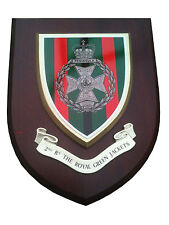 2nd RGJ Royal Green Jackets Regiment Military Wall Plaque UK Hand Made for MOD