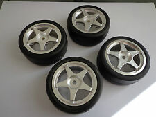 1/10 Wheels & Tyres 12mm hex's Kyosho Alpha Thunder Tiger
