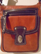 roots DANIER VILLAGE X-BODY VILLAGE BAG IN BUTTERSCOTCH  $158 RETAIL GENTLY USED