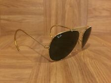 VTG�� 1970's Ray Ban Aviators Outdoorsman Ear Stems 52mm Gold USA Bausch & Lomb