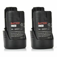 2x Power Tool Battery For Bosch 10.8V Volt Li-ion  2.0Ah BAT411 Lithium upto 12V
