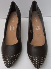 Womens Moow Brown Mid Heel Shoes - Size UK  6 EUR 39