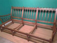 Ercol Old Colonial carved elm three seater sofa couch settee for reupholstery