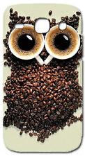 CUSTODIA COVER CASE GUFO TAZZE CAFFE' PER SAMSUNG GALAXY CORE PLUS SM-G350 G3502