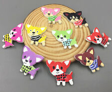 20X Cartoon Mixed color dog Buttons Sewing decoration Craft scrapbooking 30mm
