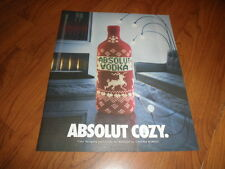 ABSOLUT COZY AD -2001-Original Magazine Print
