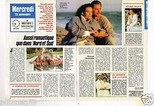 Coupure de presse Clipping 1988 (2 pages) Nord et Sud Lesley Ann et Donald