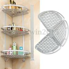 3 Layer Triangular Shower Tidy Shelf Bathroom Corner Rack Storage Basket Hanger