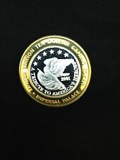 """$10 .999 Fine Silver Imperial Palace Casino Chip """"A Tribute to America's Heroes"""""""