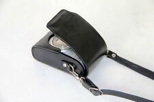 New Black Leather case bag to Sony Cyber-shot DSC- W830 W810 W710/B camera