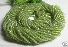 """Full 12.5"""" strand AAA PERIDOT micro faceted gem stone rondelle beads 2mm"""