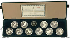 Canada 1985 - 1988 $20 Calgary Olympic Silver 10 Coin Set