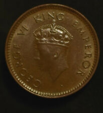 1/2 Pice India - British 1939 George VI Bronze Weight 2.4 g Diameter 21.1 mm