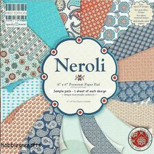 DOVECRAFT NEROLI PAPERS 6 X 6 SAMPLE TASTER PACK - 1 OF EACH DESIGN - 16 SHEETS