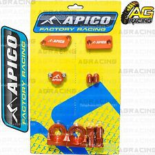 Apico Bling Pack Orange Blocks Caps Plugs Nuts Clamp Covers For KTM SX 65 2006
