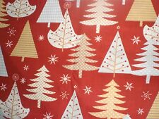 """Fabric-""""Holiday Sparkle"""" - Xmas Trees of various patterns -Wilmington Prints"""