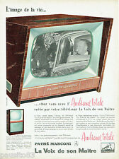 PUBLICITE ADVERTISING 125  1958  PATHE MARCONI téléviseur Ambiance totale LA VOI