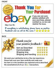100 Thank You Cards for Ebay Seller FREE SHIPPING, w/ T. Rated Seller Logo