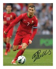 CRISTIANO RONALDO - PORTUGAL SIGNED AUTOGRAPHED A4 PP PHOTO POSTER