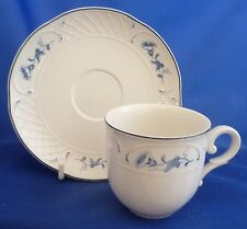 A VILLEROY & BOCH 'VAL BLEU' COFFEE CUP AND SAUCER