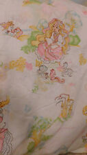 VINTAGE LADY LOVELY LOCKS FULL FITTED SHEET GOOD USED CONDITION FABRIC BIBB CO