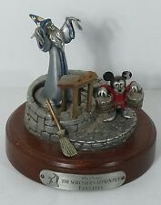 Disney Sorcerer's Apprentice Fantasia Hudson Fine Pewter Hard to Find
