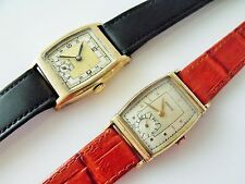 2 VINTAGE GOLD FILLED / ROLLED GOLD ART DECO STYLE WRIST WATCHES   HARVEL