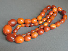 Great Color Old Natural Butterscotch Amber Necklace 25 grams