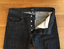 A.P.C. APC Mens NEW STANDARD Black Denim Jeans 28 31 x 27 $185 ZERO WASHES