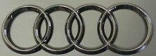 AUDI RINGS BLACK GLOSS REAR BOOT TRUNK BADGE LOGO EMBLEM STICKER 178mm X 58mm