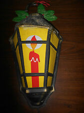 VINTAGE THIN PLASTIC CHRISTMAS LANTERN- FROM 70'S OR EARLIER