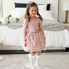 Baby Kids Girls Clothes Long Sleeve Princess Dress Outfits Preppy School Costume
