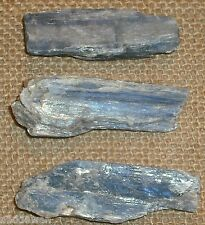 Kyanite Blue Crystal Raw Natural Blade 30 - 40 mm x3 !!