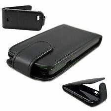 HOT Black Leather Flip Case Cover Pouch Skin For Sony Ericsson Xperia Miro ST23i