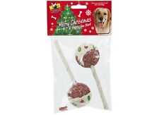 Christmas Pudding Dog Lolly Treats - Christmas Pet Treat - Dog Treat