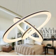 Modern Stylish 3Rings Light LED Chandelier Ceiling Lamp Pendant Fixture Lighting